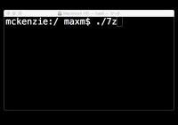 7z on OS X
